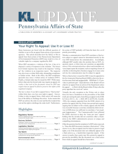 UPDATE Pennsylvania Affairs of State