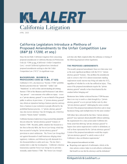 California Litigation