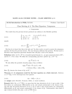 MATH 18.152 COURSE NOTES - CLASS MEETING # 3