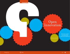 Open Innovation your on-ramp to creating
