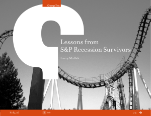 Lessons from S&P Recession Survivors Larry Mallak 84.06