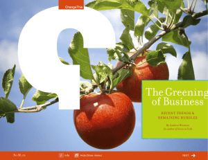 The Greening of Business