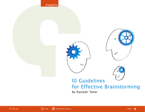 10 Guidelines for Effective Brainstorming By Randah Taher 35.04