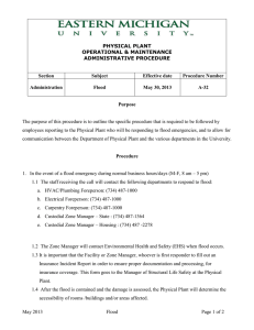 PHYSICAL PLANT OPERATIONAL & MAINTENANCE ADMINISTRATIVE PROCEDURE
