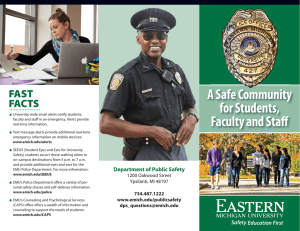 A Safe Community for Students, Faculty and Staff FAST