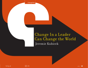 Change In a Leader Can Change the World Jeremie Kubicek 83.06
