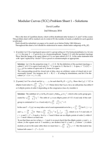 Modular Curves (TCC) Problem Sheet 1 – Solutions David Loeffler