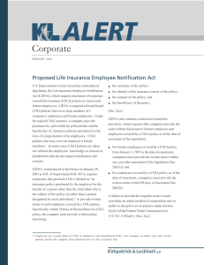 Corporate Proposed Life Insurance Employee Notification Act
