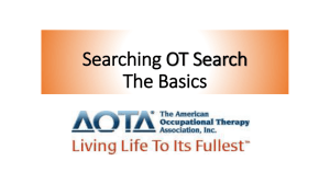 Searching OT Search The Basics