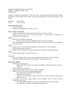 Institutional Strategic Planning Council (ISPC) Minutes – Wednesday, March 7, 2012