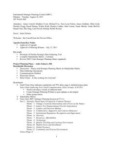 Institutional Strategic Planning Council (ISPC) Minutes – Tuesday, August 16, 2011