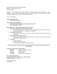 Institutional Strategic Planning Council (ISPC) Minutes – Monday, June 27, 2011
