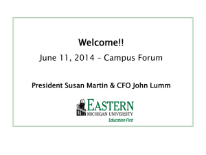Welcome!! June 11, 2014 – Campus Forum