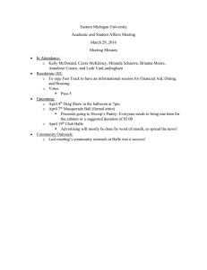 Eastern Michigan University Academic and Student Affairs Meeting March 29, 2016 Meeting Minutes