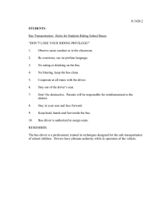 R 3420.2 Bus Transportation:  Rules for Students Riding School Buses