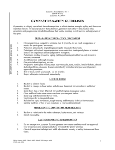 GYMNASTICS SAFETY GUIDELINES