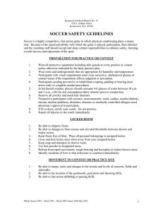 SOCCER SAFETY GUIDELINES