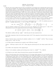 PHGN341: Thermal Physics Exam I - February 18, 2011 NAME: