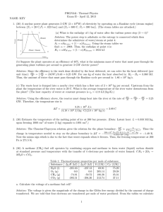 PHGN341: Thermal Physics Exam II - April 12, 2013 NAME: KEY
