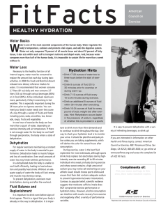FitFacts W heALthy hyDrAtion Water Basics