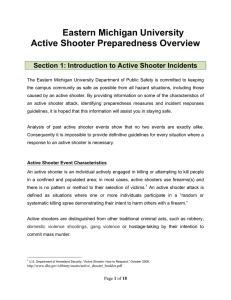 Eastern Michigan University Active Shooter Preparedness Overview