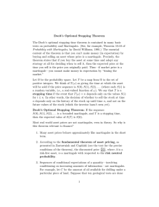 Doob's  Optional  Stopping  Theorem