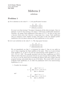 Midterm 2 solutions Problem 1