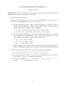 14.123 Microeconomics III— Problem Set 1 Muhamet Yildiz Instructions.