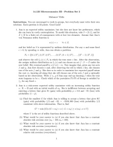 14.123 Microeconomics III— Problem Set 2 Muhamet Yildiz Instructions.
