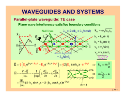 WAVEGUIDES AND SYSTEMS ( ) π