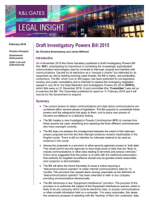 Draft Investigatory Powers Bill 2015 Introduction
