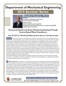 2015 Seminar Series Department of Mechanical Engineering Massimo Ruzzene, Ph.D.
