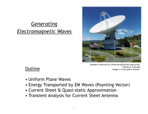 Generating Electromagnetic Waves  Outline
