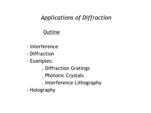 Applications of Diffraction