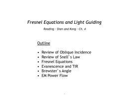 Fresnel Equations and Light Guiding