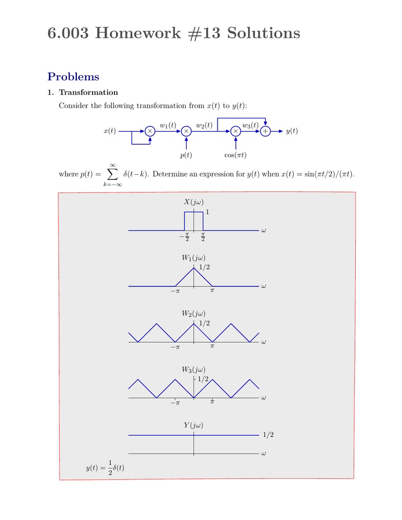 6.003 homework 8 solution