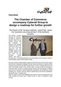 The Chamber of Commerce accompany Cyberall Group to