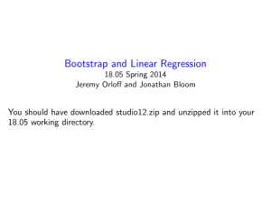and Linear Regression Bootstrap You
