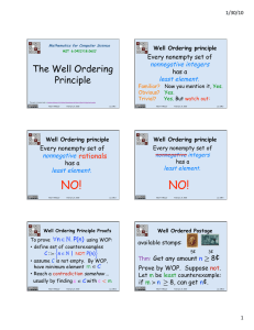The Well Ordering Principle