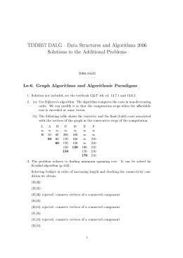 TDDB57 D ALG -