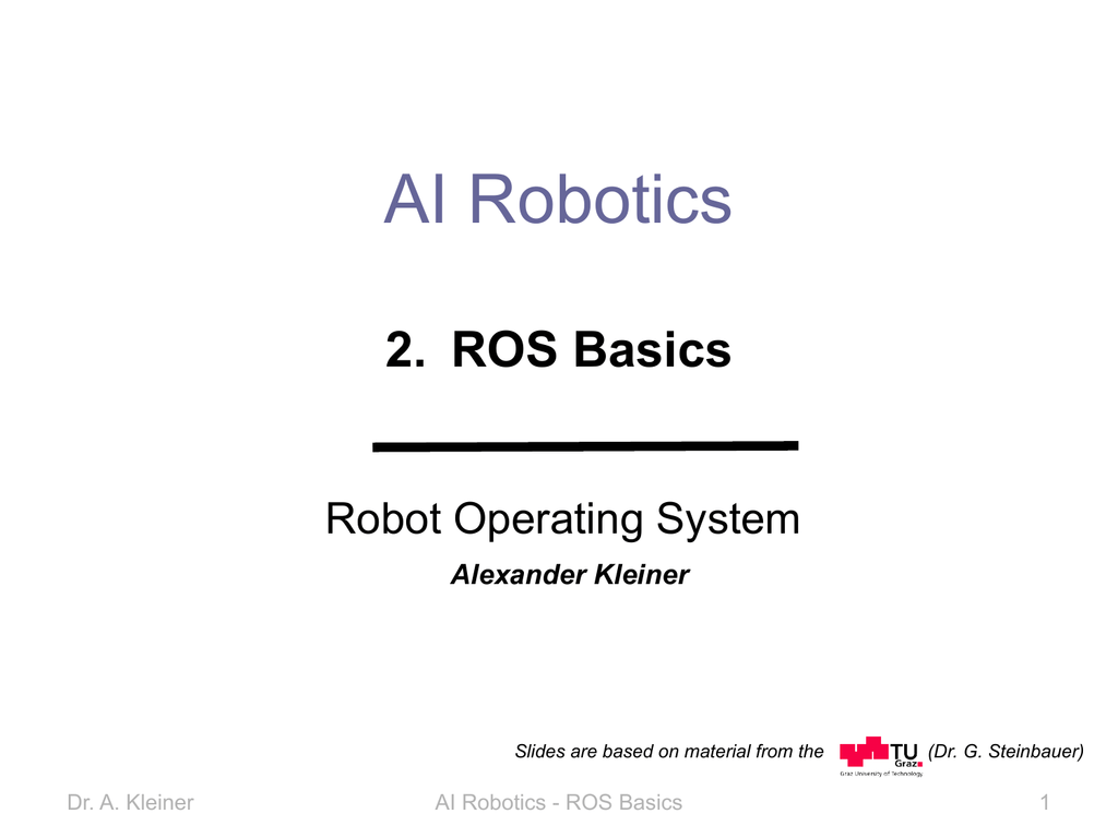 AI Robotics 2  ROS Basics Robot Operating System