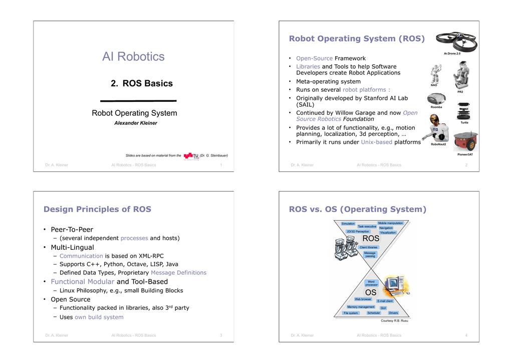 AI Robotics 2  ROS Basics Robot Operating System (ROS)