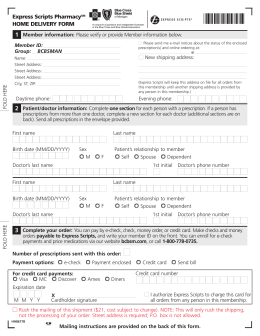 6101* 1 Express Scripts Pharmacy Home Delivery Form