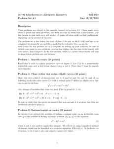 18.782 Introduction to Arithmetic Geometry Fall 2013 Problem Set #1 Due: 09/17/2013