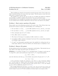 18.782 Introduction to Arithmetic Geometry Fall 2013 Problem Set #7 Due: 11/5/2013