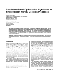 Simulation-Based Optimization Algorithms for Finite-Horizon Markov Decision Processes