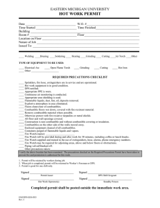 HOT WORK PERMIT EASTERN MICHIGAN UNIVERISTY