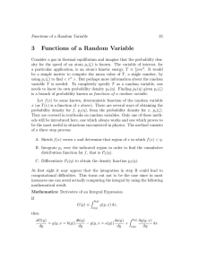 3 Functions of a Random Variable