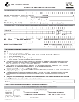 Flu Consent Form 2014-2015