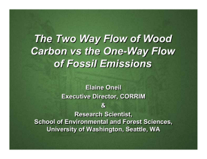 The Two Way Flow of Wood Carbon vs the One-Way Flow